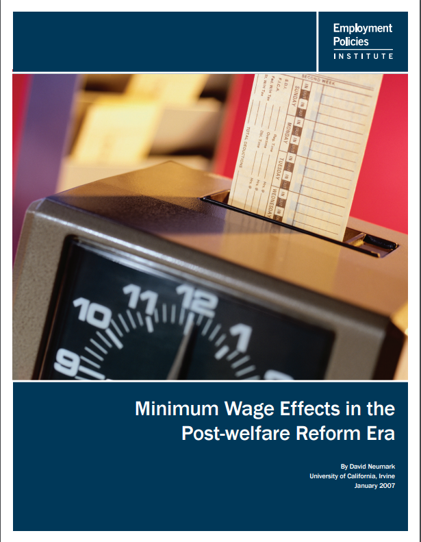 causes and consequences of minimum wage There is little doubt that the new minimum wage laws in california and new york will help reduce the increasing disparity in earnings between the highest and lowest paid workers in those states.