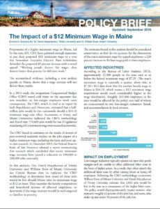 Maine Policy brief